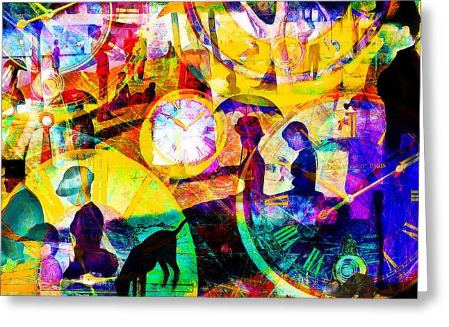 Timeless Art A Sunday On La Grande Jatte 20160229 Square Greeting Card by Wingsdomain Art and Photography