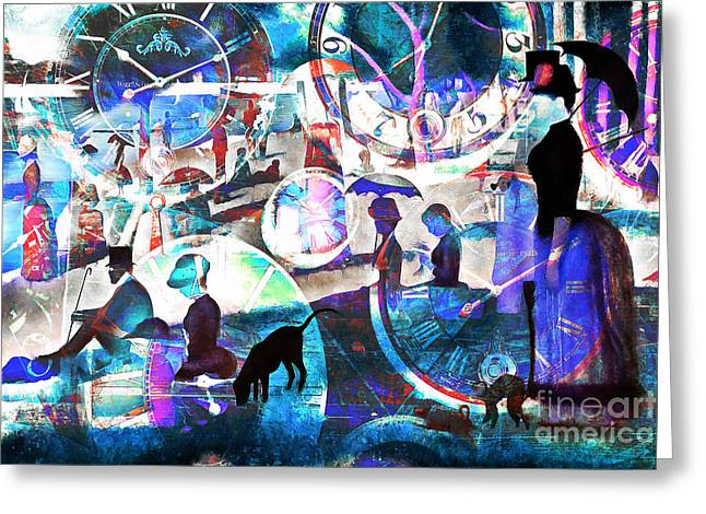 Timeless Art A Sunday On La Grande Jatte 20160229 Greeting Card by Wingsdomain Art and Photography