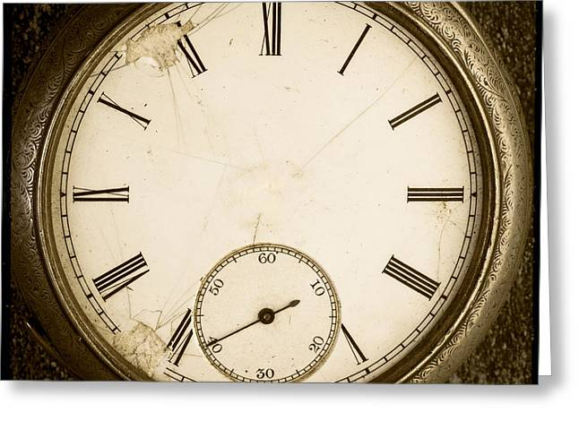 Clock Photographs Greeting Cards - Timeless Greeting Card by Edward Fielding