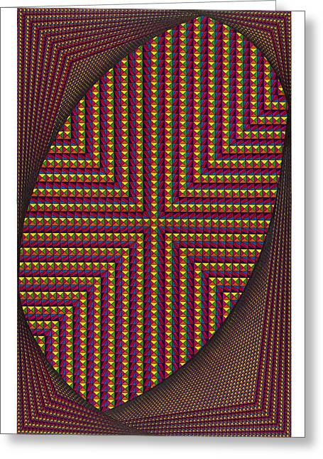Optical Art Drawings Greeting Cards - Timeless Greeting Card by Roger Hampel