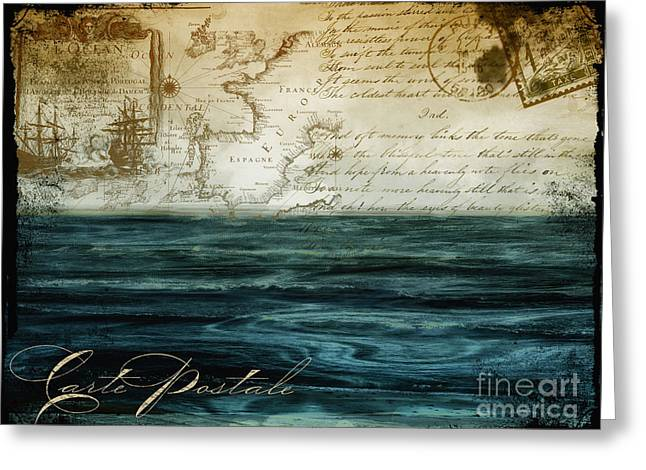 Timeless Voyage II Greeting Card by Mindy Sommers