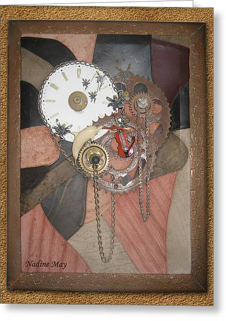 Wheels Sculptures Greeting Cards - TimePiece Greeting Card by Nadine May