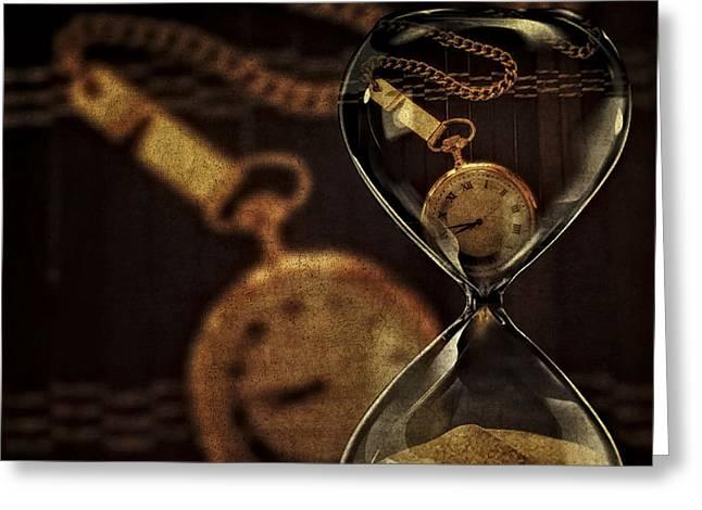 Timepieces Greeting Card by Susan Candelario