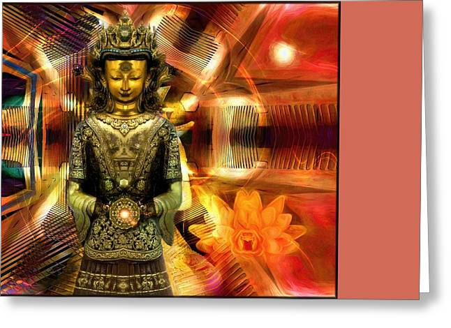 Mystic Art Greeting Cards - Times Of Hope And Light  Greeting Card by Daniel  Arrhakis