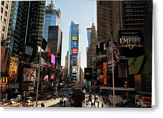 Times Square Greeting Card by Benjamin Matthijs