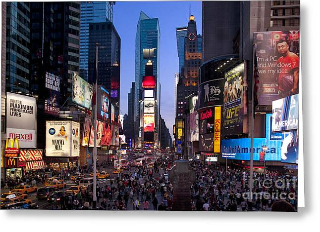 Midtown Greeting Cards - Times Square Greeting Card by Brian Jannsen