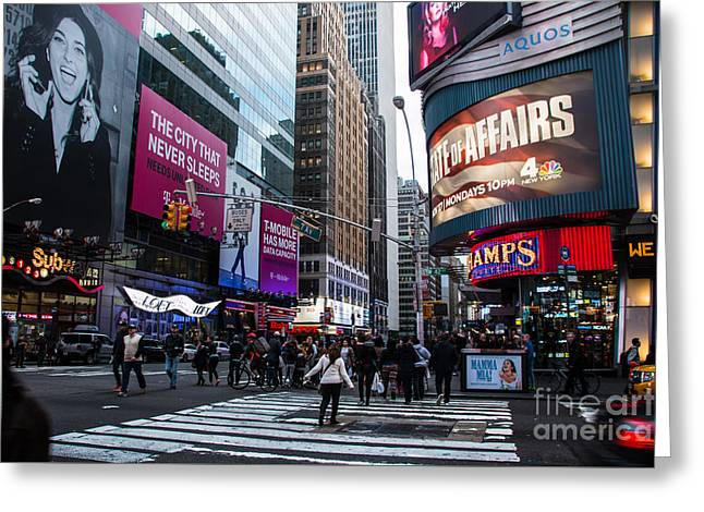 Occasion Greeting Cards - Times Square Greeting Card by  ILONA ANITA TIGGES - GOETZE  ART and Photography