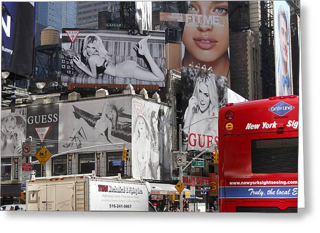Photography Of Liquor Greeting Cards - Times Square Greeting Card by Jim Ramirez