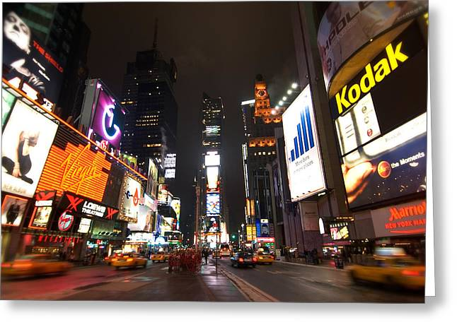 Times Square Greeting Card by John Gusky