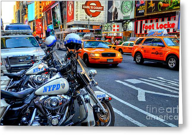 Times Square  Greeting Card by Kelly Wade