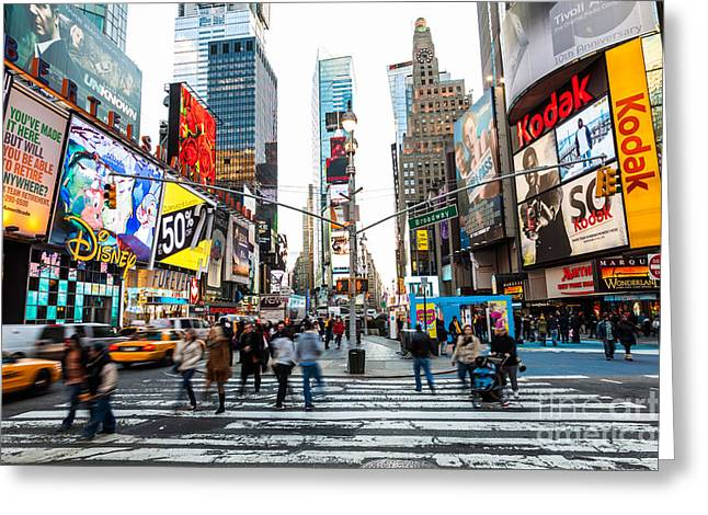 Times Square, New York City Greeting Card by Voisin/Phanie