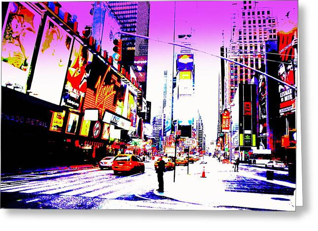 Times Square Ny  Greeting Card by Funkpix Photo Hunter