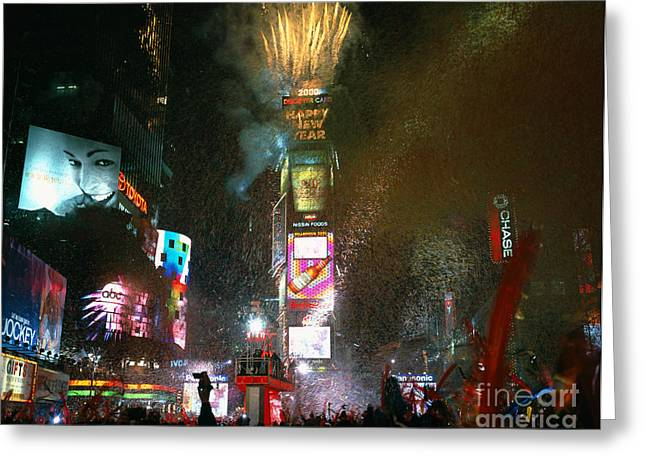 Festivities Greeting Cards - Times Square On New Years Eve Greeting Card by Rafael Macia