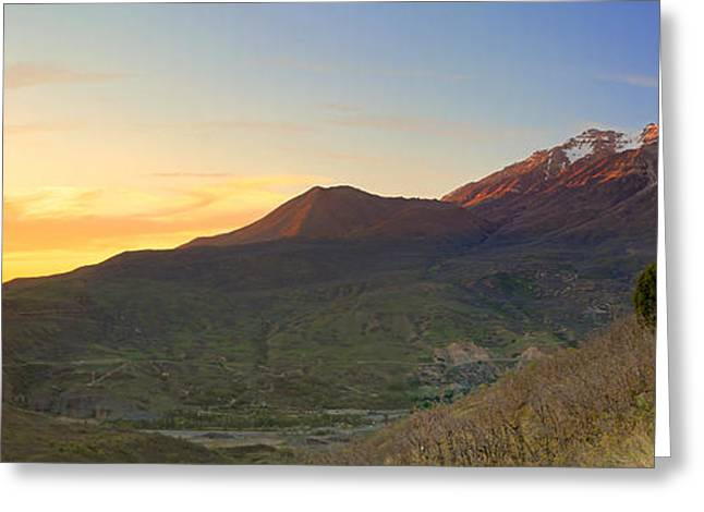 Amazing Sunset Greeting Cards - Timpanogos panorama from Squaw peak. Greeting Card by Johnny Adolphson