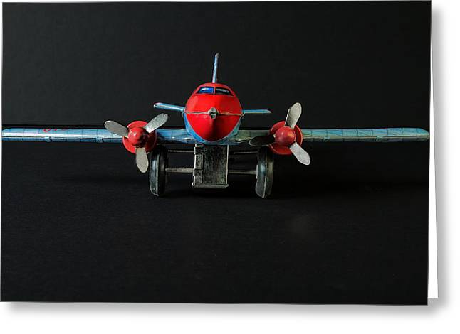 Tin Planes Greeting Cards - Tin Airplane - 1 Greeting Card by Rudy Umans