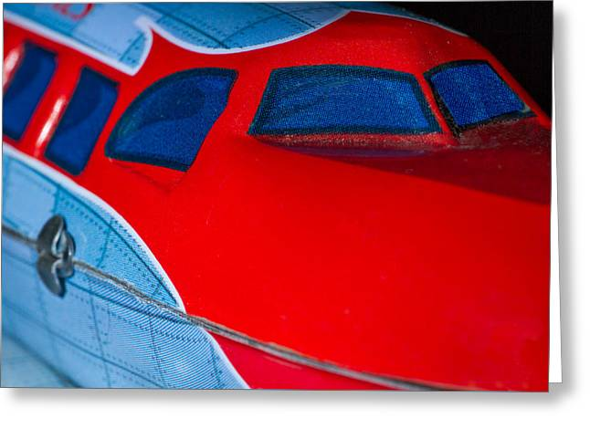 Tin Airplane - 2 Greeting Card by Rudy Umans