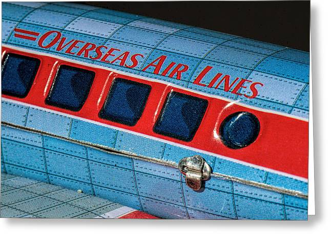 Tin Airplane - 3 Greeting Card by Rudy Umans