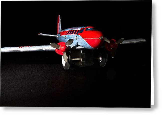 Tin Airplane  Greeting Card by Rudy Umans
