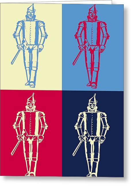 Tin Man Pop Art Poster Greeting Card by Dan Sproul