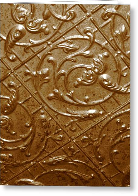 Sheryl Burns Greeting Cards - Tin Roof Greeting Card by Sheryl Burns