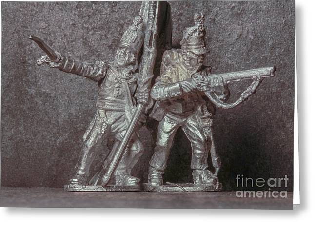 Soldier Of Fortune Greeting Cards - Tin Soldiers The Charge Greeting Card by Randy Steele