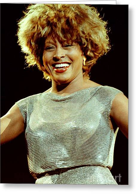 Tina Turner Greeting Cards - Tina Turner-0455 Greeting Card by Gary Gingrich Galleries