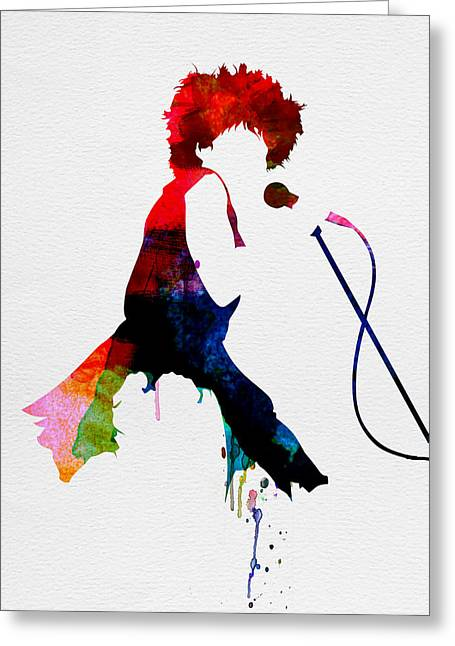 Disco Greeting Cards - Tina Watercolor Greeting Card by Naxart Studio