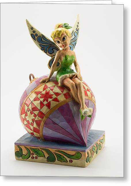 Tink On An Ornament Greeting Card by Greg Thiemeyer