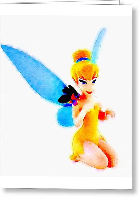 Tinker Bell Paintings Greeting Cards - Tinker Bell Greeting Card by Helge