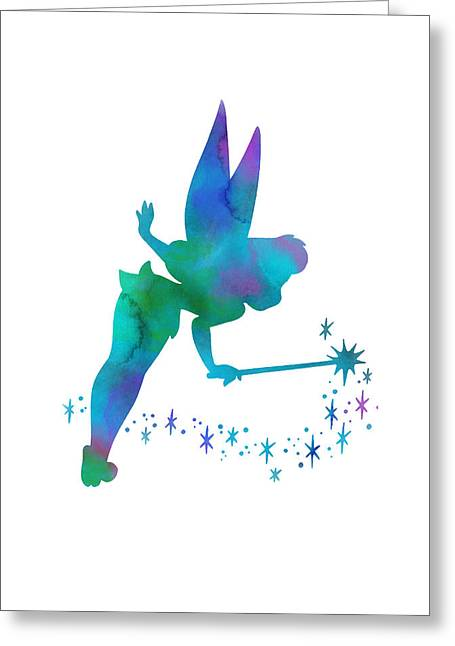 Tinker Bell Greeting Cards - Tinker Bell Greeting Card by Nagore Rodriguez