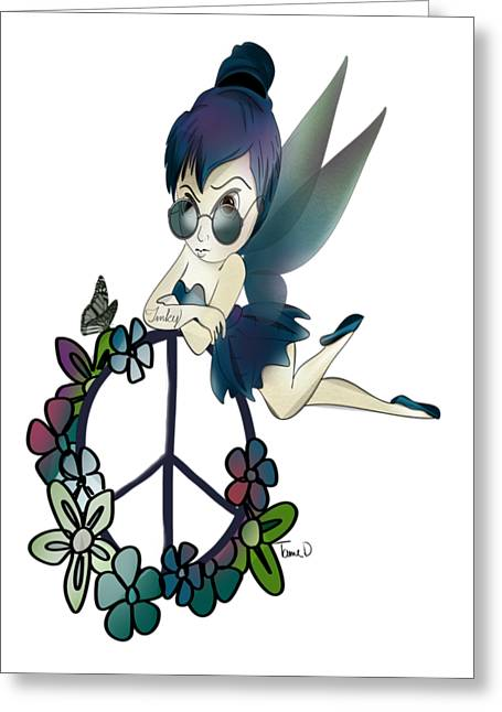 Tinker Bell Greeting Cards - Tinky Fairy Greeting Card by Tami Dalton