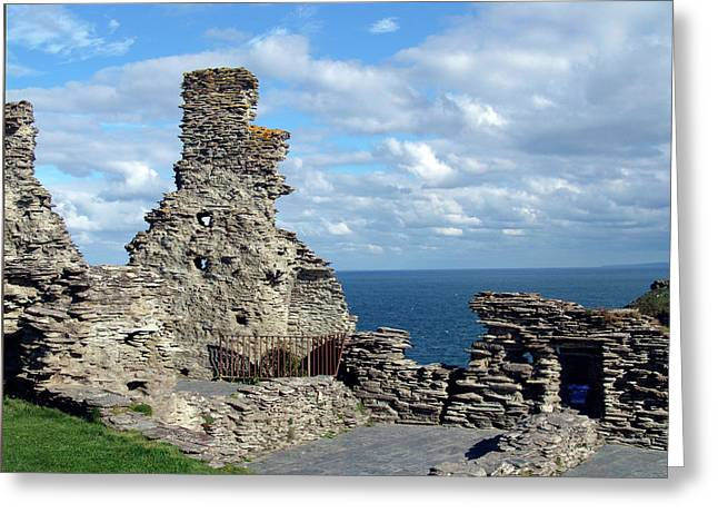 Tintagel Greeting Cards - Tintagel Castle 1 Greeting Card by Kurt Van Wagner