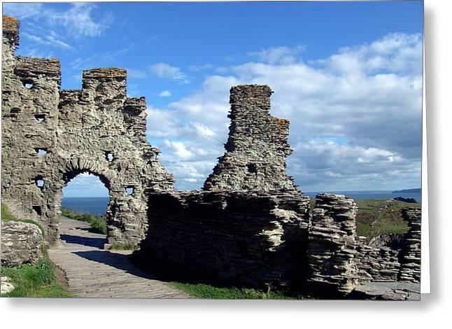 Tintagel Castle 2 Greeting Card by Kurt Van Wagner