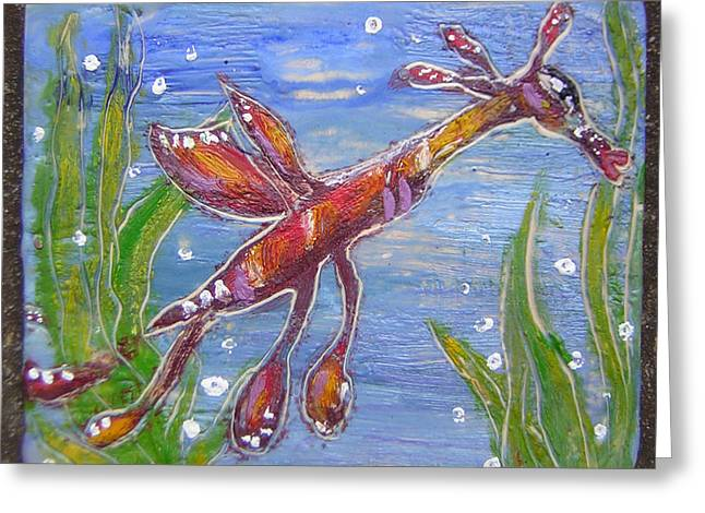 Tiny Anthropomorphic Sea Dragon 2 Greeting Card by Michelley QueenofQueens