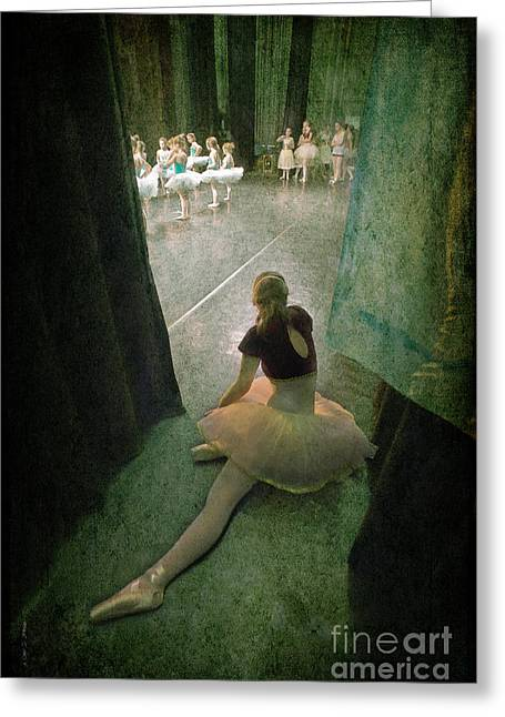 Ballet Dancers Greeting Cards - Tiny Ballerina Greeting Card by Craig J Satterlee