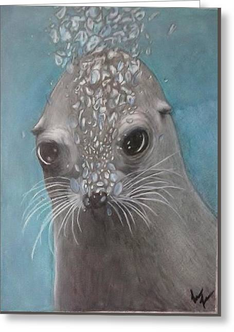 Wild Life Drawings Greeting Cards - Tiny Bubbles Greeting Card by Lori Lee