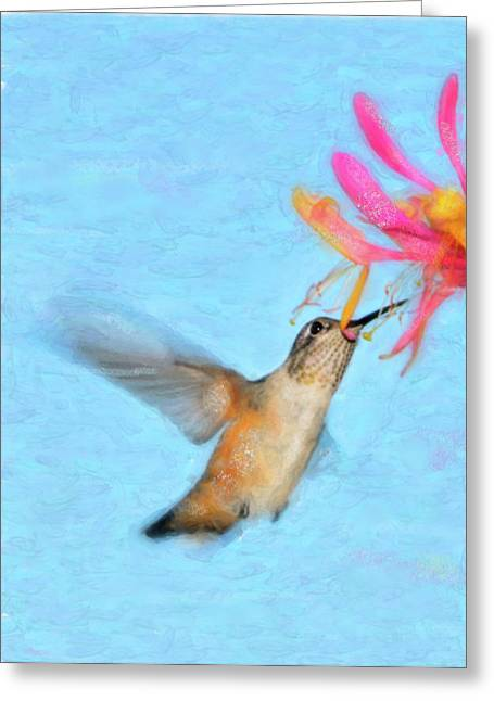 Hovering Greeting Cards - Tiny Dancer Greeting Card by Betty LaRue