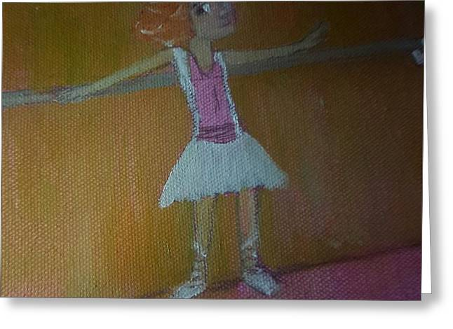 Ballet Bars Greeting Cards - Tiny Dancer Greeting Card by Cindy  Riley