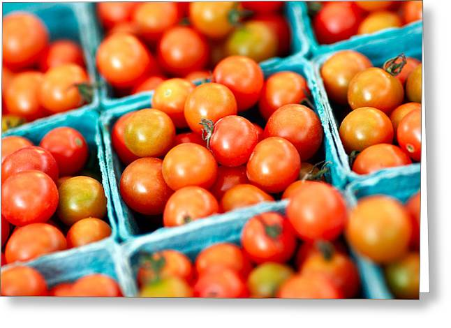 Tiny Little Red Tomatoes Greeting Card by Todd Klassy