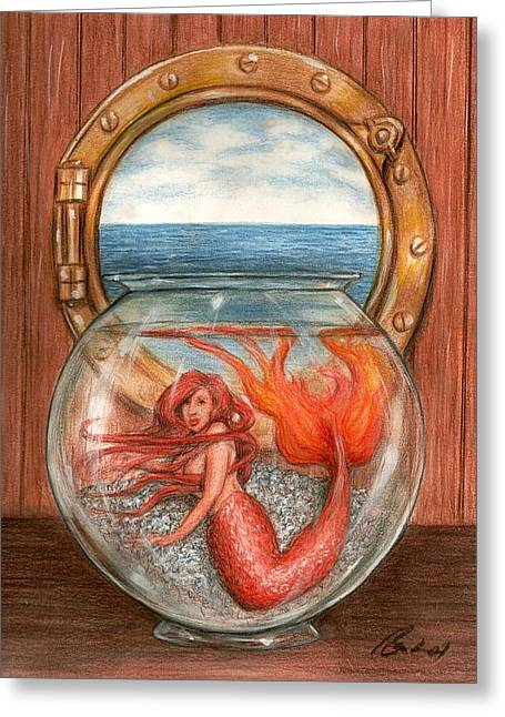 Bruce Lennon Greeting Cards - Tiny Mermaid Greeting Card by Bruce Lennon