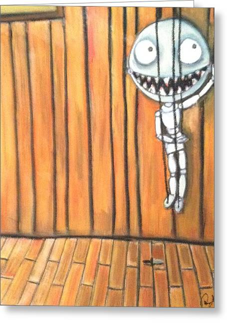 Creepy Pastels Greeting Cards - Tiny Puppet Greeting Card by Regina Jeffers