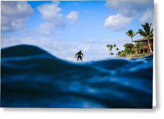 Tiny Surfer Greeting Card by Matty  Schweitzer