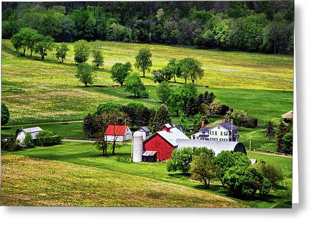 Historic Site Greeting Cards - Tioga County Farmstead Greeting Card by Carolyn Derstine