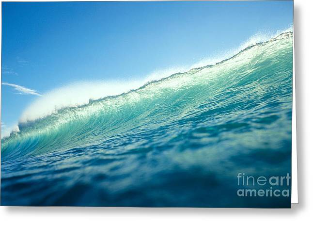 Backlit Greeting Cards - Tipped Wave Greeting Card by Vince Cavataio - Printscapes