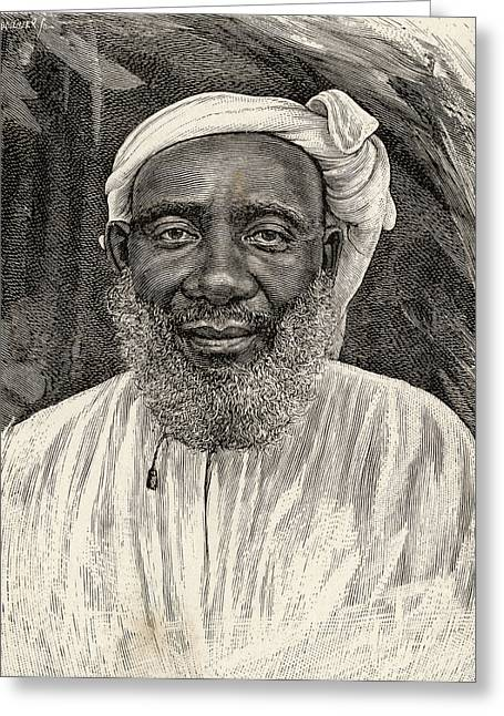 Plantations Drawings Greeting Cards - Tippu Tip Or Tib, 1837 To 1905, Real Greeting Card by Ken Welsh