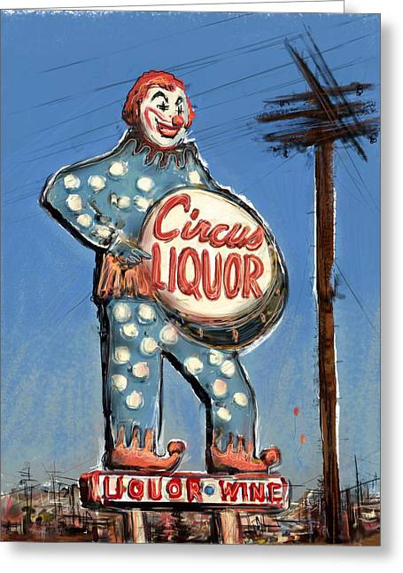 Cartoony Greeting Cards - Tipsy the Clown Greeting Card by Russell Pierce