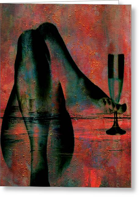 Tipsy Turvey Greeting Card by Greg Sharpe