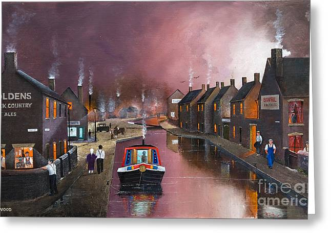 Barges Greeting Cards Greeting Cards - Tipton Green Branch Greeting Card by Ken Wood