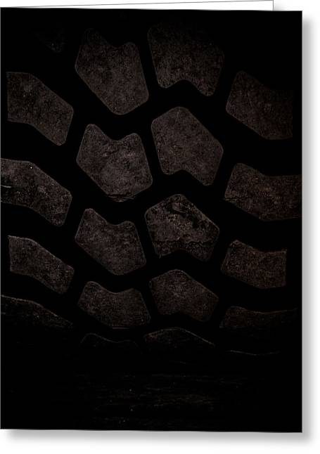 Michelin Greeting Cards - Tire Tread Art Greeting Card by Roland Keates