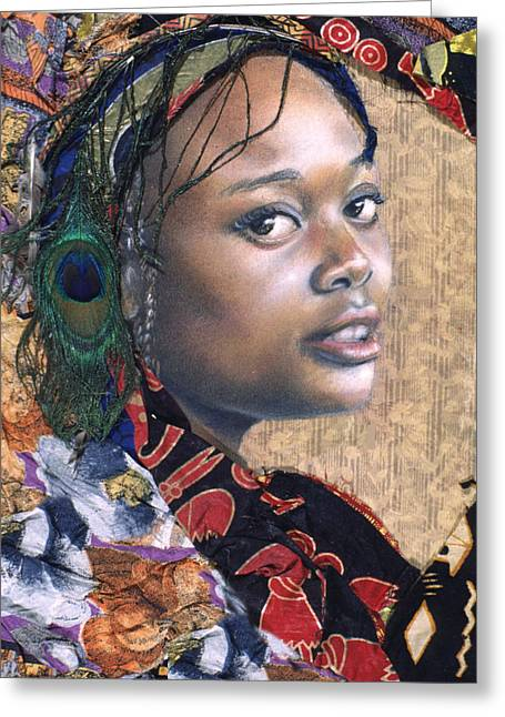 African Cloth Greeting Cards - Tishauna 7.1 Greeting Card by Gary Williams